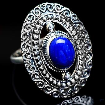 Lapis Lazuli Ring Size 8.25 (925 Sterling Silver)  - Handmade Boho Vintage Jewelry RING4589