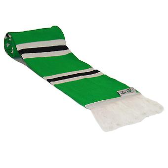 fan originals Retro Football Bar Scarf in Northern Ireland Colours Green White