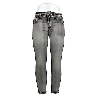 Laurie Felt Women's Petite Jeans Silky Denim Colored Skinny Gray A375167