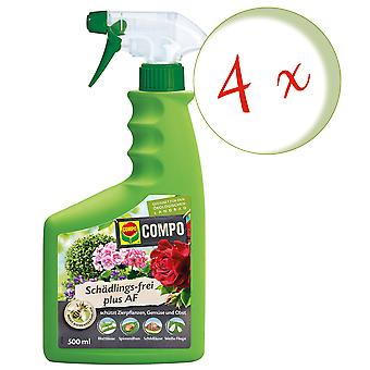 Sparset: 4 x COMPO Pest-fri Plus AF, 500 ml