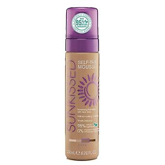 Sunkissed Self Tan Mousse 95 Percent Natural - Dark