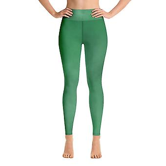 Leggings d'entraînement | leggings de yoga | aquarelle | vert #2