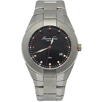 Kenneth Cole KC9131 Homme Acier inoxydable Noir 42MM Quartz Analog Watch