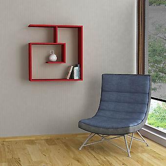 Mensola Laby Color Rosso in Truciolare Melaminico 75x22x75 cm