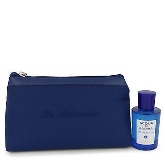 アクア ・ ディ ・ パルマ 2.5 oz オー ・ デ ・ トワレ スプレー (男女兼用) のバッグでギフトセット ブルー メディテラネオ Cedro ・ ディ ・ タオルミーナ