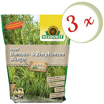 Sparset: 3 x NEWDORFF Azet® Bambu & Grama ornamentalFertilizador, 1,75 kg