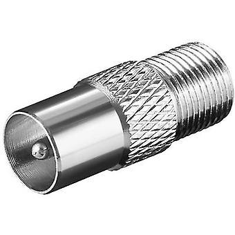 Zat antenne adapter F socket Coax plug 1 pc(s)