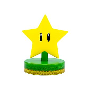 Super Star Icon Light Sous licence Nintendo Super Mario Batterie Powered Night Light