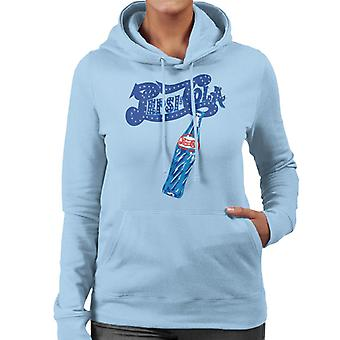 Pepsi Cola Retro funkeln Logo Frauen's Kapuzen Sweatshirt