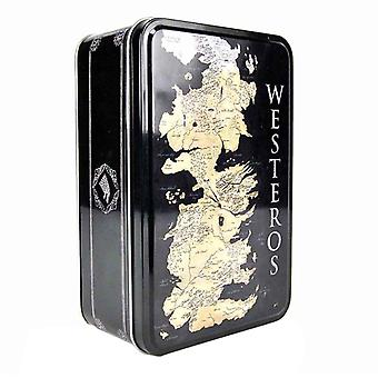 Game Of Thrones Lunch Box Westeros Map House Sigils new Official Black