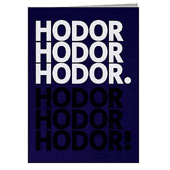 Get Over It Hodor Game Of Thrones Greeting Card