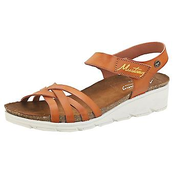 Mustang Single Strap Womens Casual Sandals in Chestnut