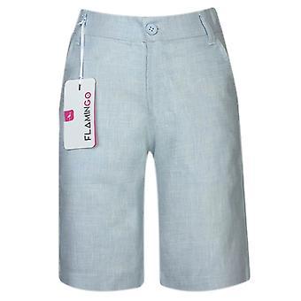 Boys Summer Linen Short in Ice Blue