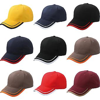 Myrtle Beach Adults Unisex 6 Panel Piping Cap
