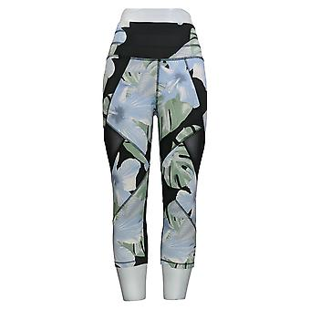 Tracy Anderson for G.I.L.I. Petite Leggings Printed Crop Black A365531