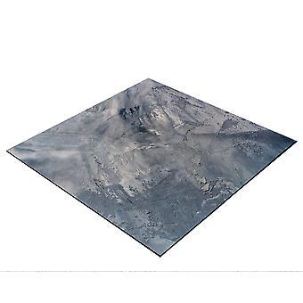 BRESSER Flatlay Pozadí pro pokládku obrázků 60x60cm Abstraktní šedá / modrá