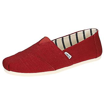 Toms Classic Heritage hombres slip on zapatos en Cherry