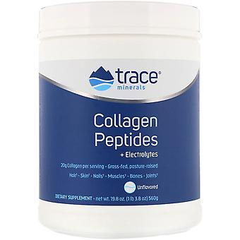 Trace Minerals Research, Collagen Peptides + Electrolytes, Unflavored, 19.8 oz (