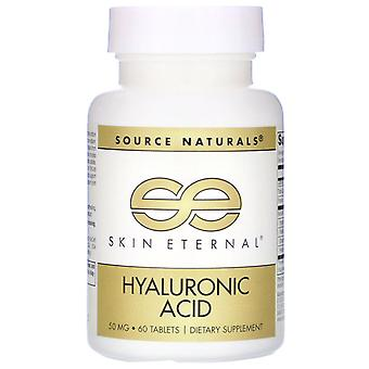 Source Naturals, Skin Eternal, Hyaluronic Acid, 50 mg, 60 Tablets