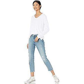 Merkki - Goodthreads Women's Pesty Jersey Puuvilla Pitkähihainen V-kaula-paita, Valkoinen,Pieni