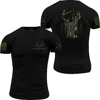 Grunt Style Realtree Original - Deer Flag T-Shirt - Black