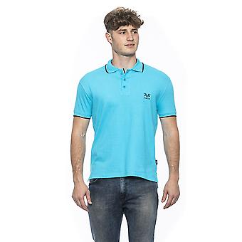 Turchese turquoise fitted polo shirt