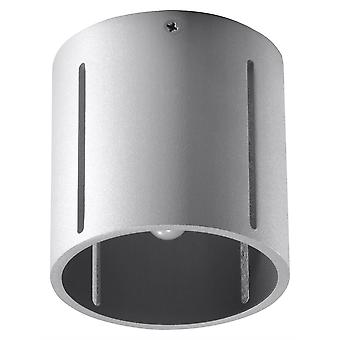 1 Light Flush Ceiling Light Grey, G9