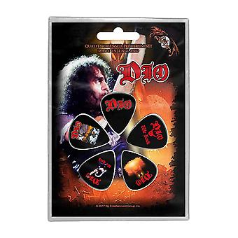 Dio Plectrum Pack We Rock new Band Logo Official 5 Pack Guitar Picks