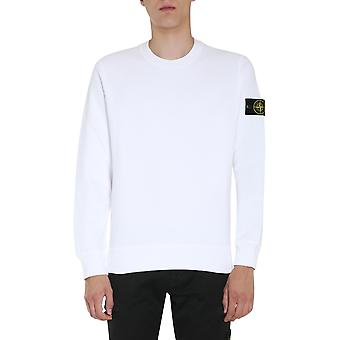 Stone Island 731563020v0001 Men's White Cotton Sweatshirt