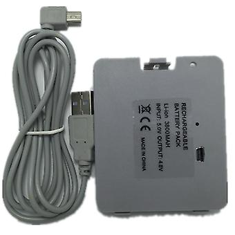 3800ma Usb Rechargeable Battery With Charger Cable For Nintendo Wii