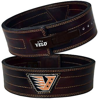 VELO 4 INCH Leather Power Weight Lifting Lever Buckle Belt LB2