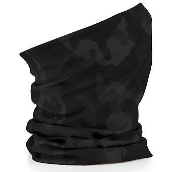 Beechfield Morf Original Multi Use Neckwarmer Snood Scarf Headband Midnight Camo