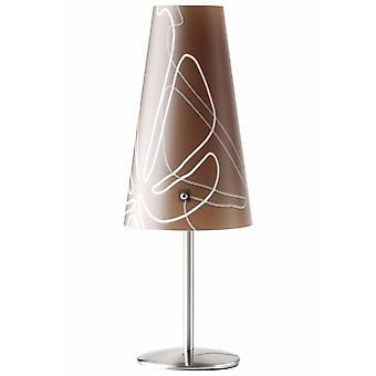 BRILLIANT Lampe Isi bordlampe mørk brun | 1x C35, E14, 40W, egnet til stearinlyslygter (ikke inkluderet) | Skaler A++