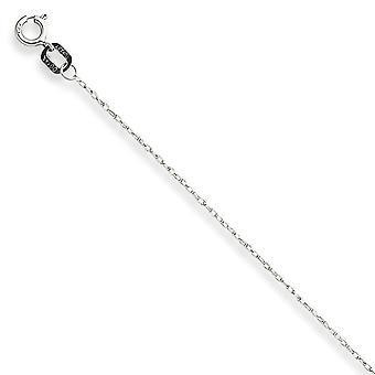 14k Beyaz Altın Masif Cilalı Kartlı Kablo Halat Zinciri Kolye 0.6mm Bahar Yüzük Takı Hediyeler Kadınlar için - Uzunluk: 16 için