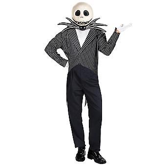 Jack Skellington Disney pesadilla antes de Navidad Halloween traje para hombre XL