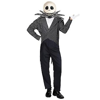 Jack Skellington Disney The Nightmare Before Christmas Halloween Mens Costume XL