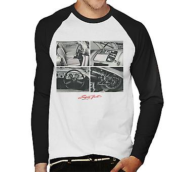 MG Safety Fast Montage British Motor Heritage Men's Baseball Long Sleeved T-Shirt