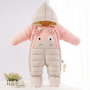 Cartoon Bear Winter Overalls Clothes Baby Jumpsuit Kids Girl Coat- Infant Snowsuit Boy Snow Wear Clothing