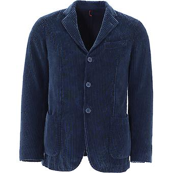Santaniello Ds26446l729mf79b Men's Blue Cotton Blazer