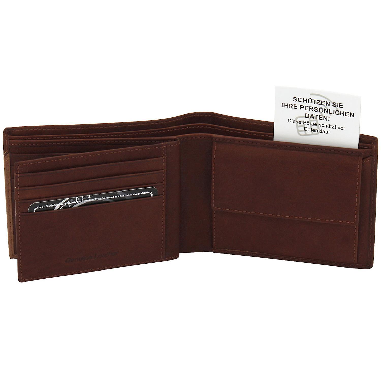Handtaschen & Brieftaschen Friedrich Lederwaren Geldbörse GILMERS Leder cognac braun RFID Schutz