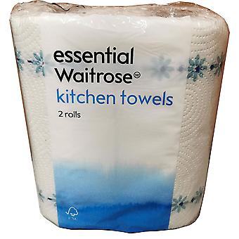 Serviette de cuisine Waitrose 2ply essentielle (12x2rolls)