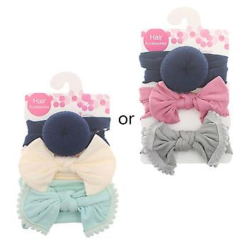 New Solid Nylon Baby Headband, Bow For Cute Kids, Turban