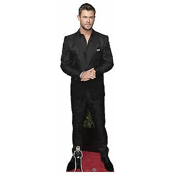Chris Hemsworth Black Shirt Celebrity Lifesize Cardboard Cutout / Standee