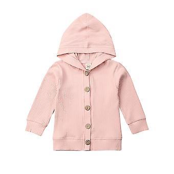 Baby pletení Cardigan Podzimní teplé kojenecké svetry - s dlouhým rukávem s kapucí kabát