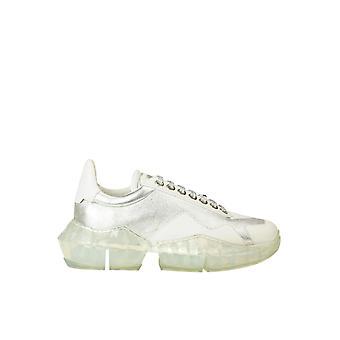 Jimmy Choo Ezgl009001 Kvinder's Sølv læder sneakers