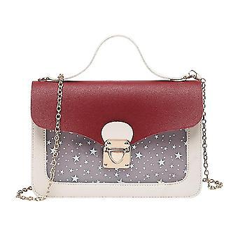 Femme Mini Square Pack Shoulder Bag, Fashion Star Sequin Designer Messenger