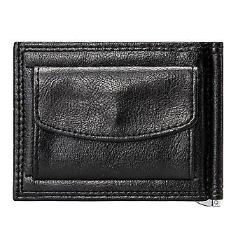 Men Short Wallet With Coin Pocket Bifold Pu Leather Casual Cards Case Wallets