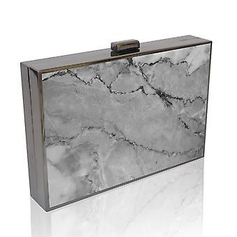 Marble Printed Clutch Bag