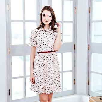 (kobieta) Sukienka polka dot w kształcie litery polka w kształcie serca