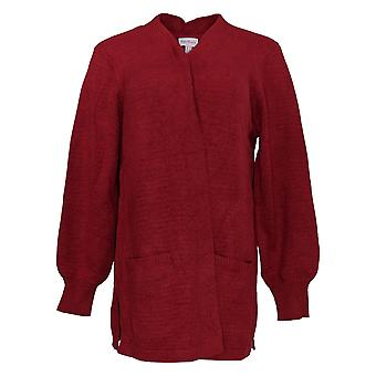 Anyone Women's Sweater Knit Open-Front Cardigan Rouge A373430